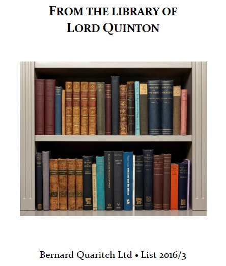 From the Library of Lord Quinton