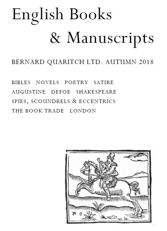 English Books & Manuscripts: Autumn 2018