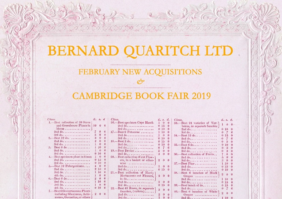 Cambridge Book Fair List 2019